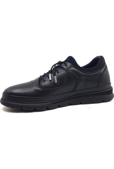 James Franco 5192 Siyah Günlük Erkek Deri Ayakkabı