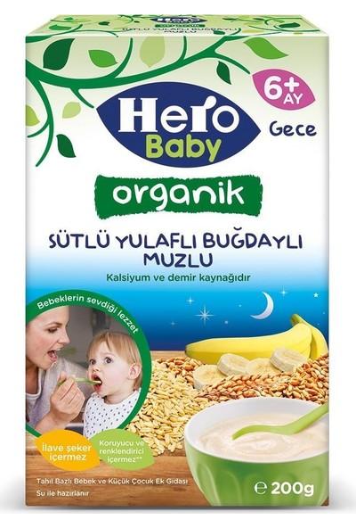 Hero Baby Organik Sütlü Buğdaylı Muzlu Kaşık Mama 200G 2 Adet
