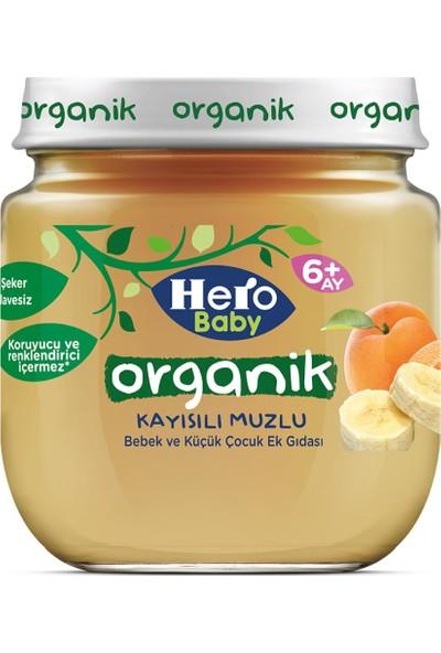 Hero Baby Organik Kayısı Muzlu ve Prebiyotikli Muzlu Kavanoz Mama