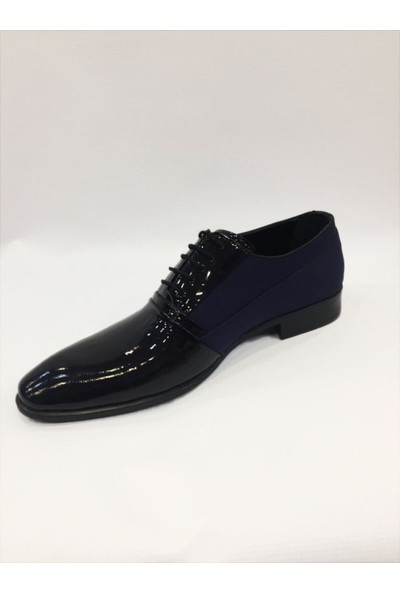 Mariotto Deri Jurdan Taban Lacivert Şık Ayakkabı