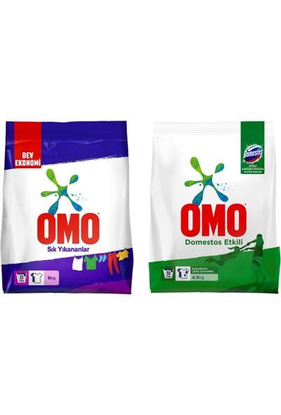 Omo Matık 5 kg Sık Yıkananlar + Omo Domestos Etkili Toz Çamaşır Deterjanı 4,5 kg