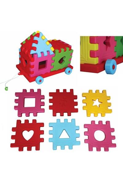 King Kids Plastik Arabalı Puzzle 12 Parça