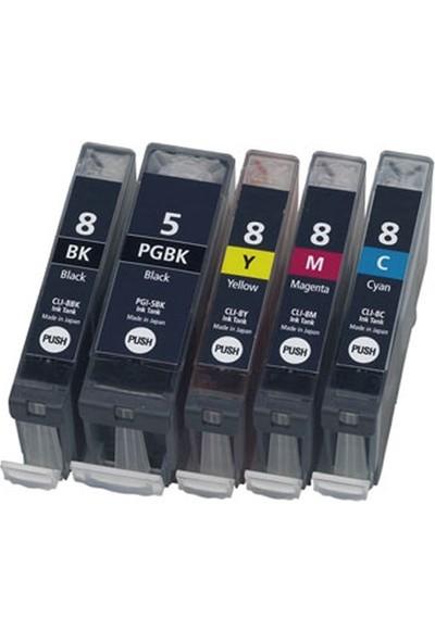 Photo Print Canon Pixma MP610 Kartuş Set 5 Renk Takım Pg-5 Clı-8