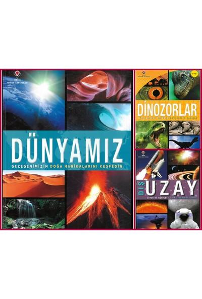 Tübitak Popüler Bilim Dünyamız - Dış Uzay-Dinozorlar 3 Kitap Set