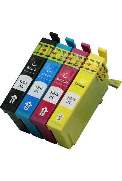 Photo Print Epson Stylus SX235W Uyumlu T1291-1292-1293-1294 4 Renk Muadil Kartuş Takım