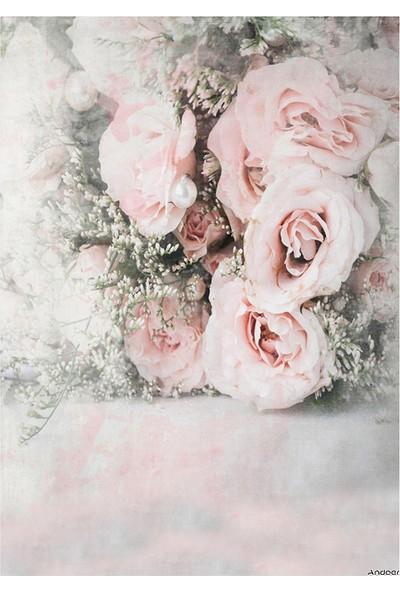 Andoer 1,5 x 2,1 m / 5 x 7ft Gül Çiçek Fotoğraf Arka