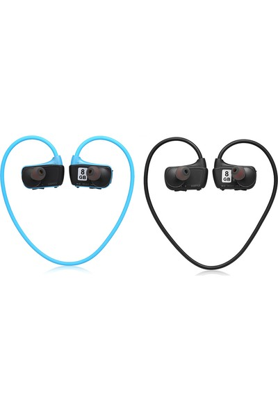 Auvc W273 8 GB Spor Mp3 Çalar Kulaklık 2in1 Müzik Kulaklık (Yurt Dışından)