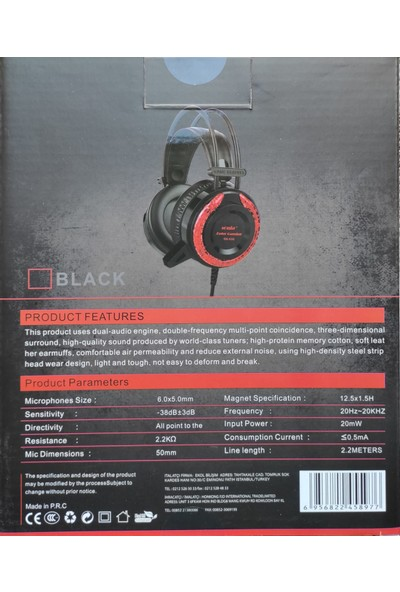 Sonia SN-X50 Oyuncu Kulaküstü Kulaklık