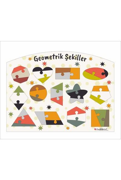 Walldeco Çocuk Eğitici Ahşap Geometrik Şekiller