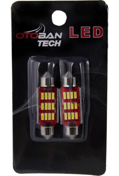 Otoban Sofit LED SJ-4014 12 Smd 39 mm Canbus 12 V Beyaz
