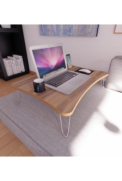 Diwwa Katlanır Laptop Sehpa Çalışma Kahvaltı Masası Mdf