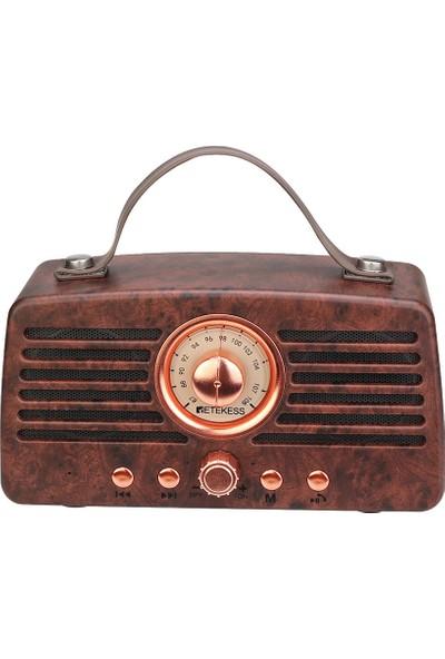 Retekess TR607 Retro Fm Radyo Alıcısı Mp3 Çalar Radyo (Yurt Dışından)