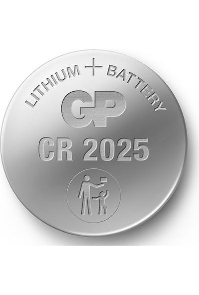 Gp CR2025 3V Lıtyum Düğme Pil 5 Blister 5 Kart 25'li