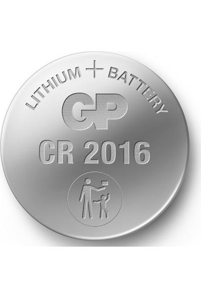 Gp CR2016 3V Düğme Pil Lıtyum 5'li Blister 5 Kart 25 Adet