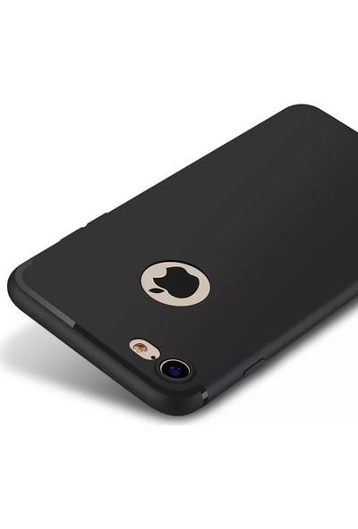 CepStok Apple iPhone 7 Kılıf Ultra Ince Tıpalı Siyah Silikon