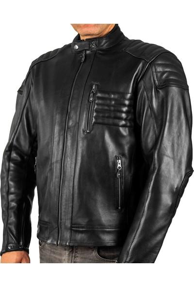 Hunter Black Motosiklet Deri Mont