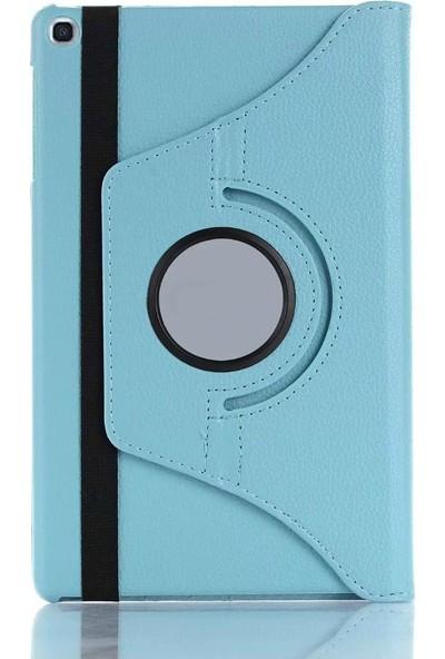 CepLab Samsung Galaxy Tab S6 Lite P610 P615 P617 Kılıf 360° Ayarlanabilir Standlı Tablet Kılıfı+Nano Esnek Koruyucu Cam Turkuaz