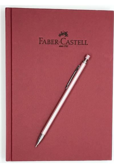 Faber-Castell A5 Ajanda Vişne Çizgili ve Mekanik Versatil Kalem 0.7 Pembe