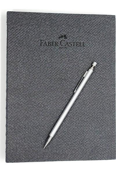 Faber-Castell A5 Bambu Gizli Spiralli Ajanda ve Versatil 0.7 Mekanik Kalem Gümüş