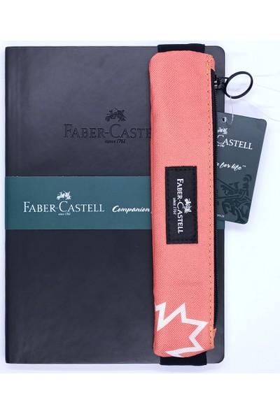 Faber-Castell A5 Suni Deri Ajanda ve Fc Kalemlik Kırmızı