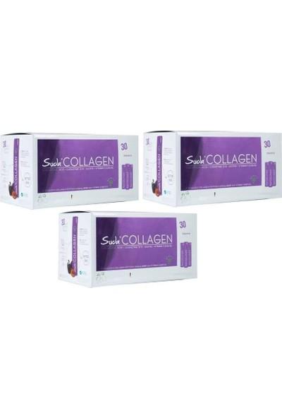 Suda Collagen Plum Flavor 40ml x 30 Shot 3 adet