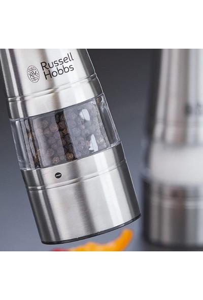 RUSSELL HOBBS 23460-56 Classsics Tuz & Karabiber Öğütücü, 50GR x 2, Cilalanmış Paslanmaz Çelik, Gümüş
