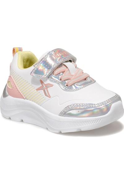 Kinetix Beyaz Pembe Gümüş Kız Çocuk Spor Ayakkabı