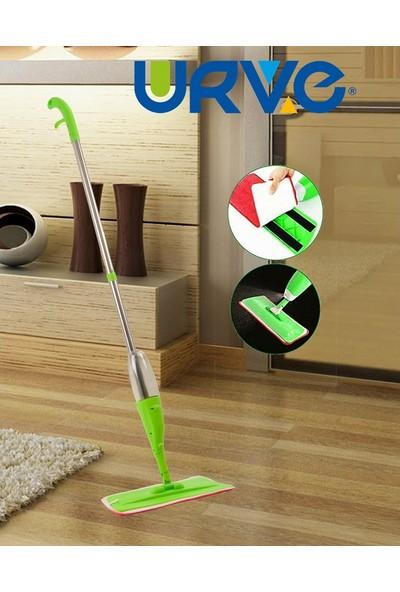 Urve Yeşil Mikrofiber Sprey Mop + 2 Bez