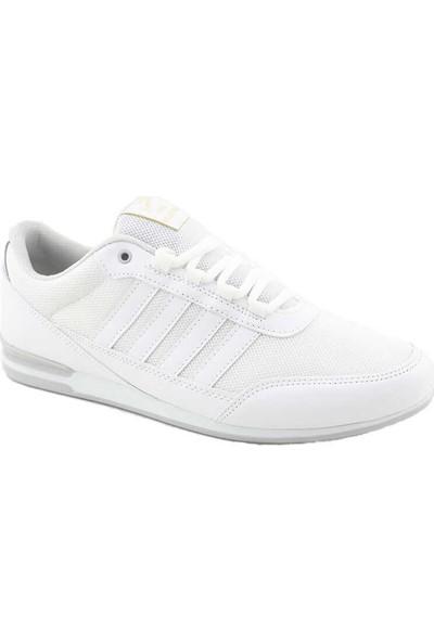 Liger 3018 Erkek Spor Ayakkabı-Beyaz Beyaz