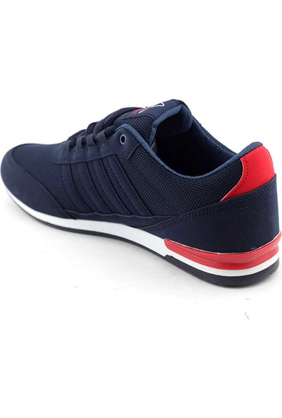 Liger 3018 Erkek Spor Ayakkabı-Lacivert Beyaz