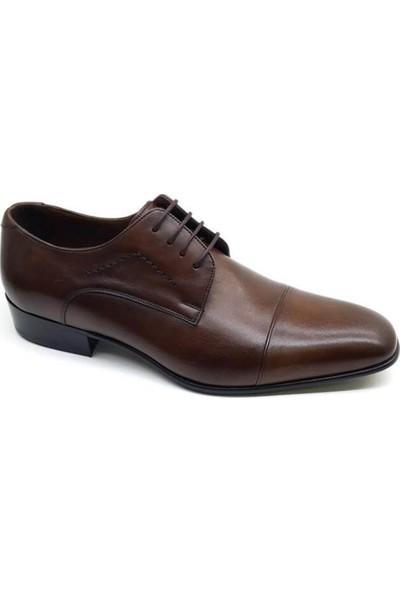 Oskar 213 Oskar Hakiki Kösele Erkek Ayakkabı-Kahverengi