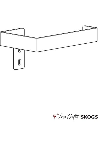 Love Gifts Skogs Çelik Tuvalet Kağıtlığı Tuvalet Kağıdı Askısı