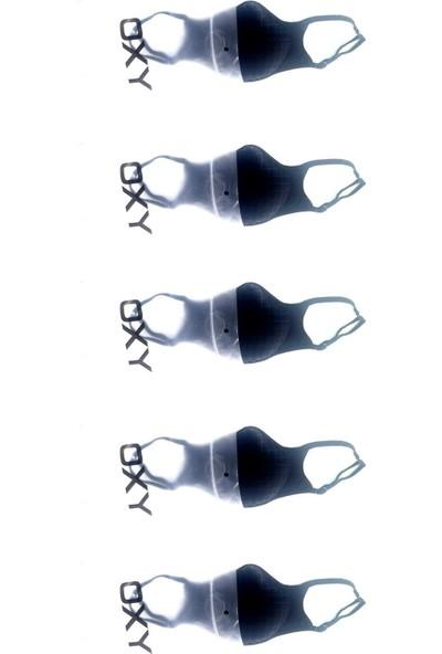 Oxy 5'li Ayarlanabilen Filtreli Siyah Yıkanabilir Maske Paketi