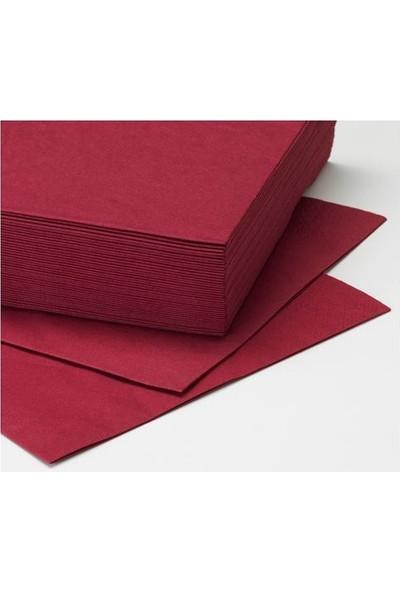Ikea Fantastisk Koyu Kırmızı Peçete 40X40 Cm 50 Adet