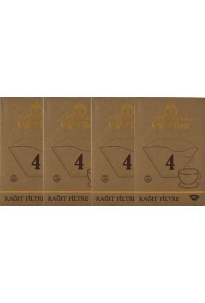 Coffee Time 4 Numara Filtre Kahve Kağıdı 4 x 100'LÜ