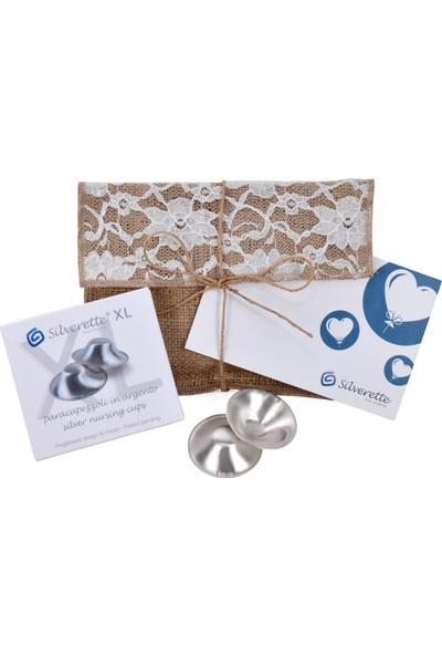 Silverette XL Gümüş Göğüs Ucu Koruma Kapağı Hediyelik Paket