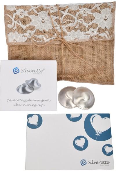 Silverette Gümüş Göğüs Ucu Koruma Kapağı Hediyelik Paket