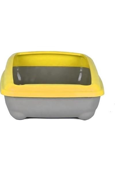 Atlantik Kedi Tuvalet Kum Kabı 50/37/13.5 cm Sarı + Kürek Hediye