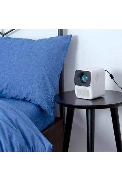 Wanbo LCD Projektör T2 Max Projektör 4K Ultra Çözünürlüklü Dikey Yastık Düzeltme (Yurt Dışından)