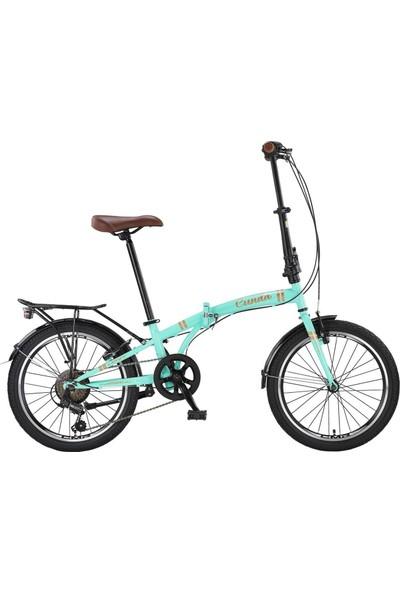 Ümit Bisiklet Ümit 2034 Cunda 6s 20 Jant 6V Katlanır Bisiklet Turkuaz-Gold
