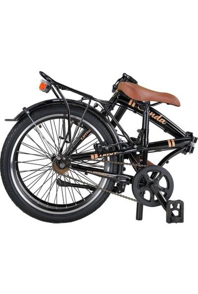 Ümit Bisiklet Ümit Cunda 20 6s 2034 Katlanır Bisiklet Siyah-Gold - 100069