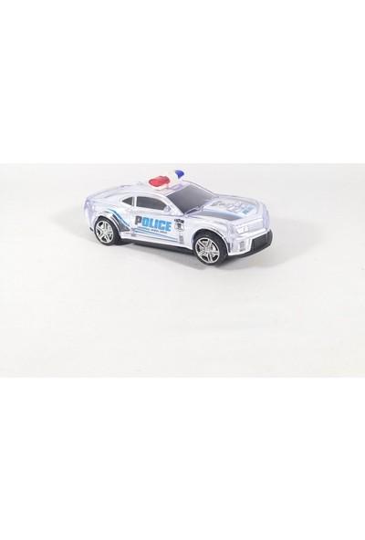 Beyazkuş Ticaret Pilli Sesli Işıklı Polis Arabası Kırılmaz Korumalı Oyuncak Arabası
