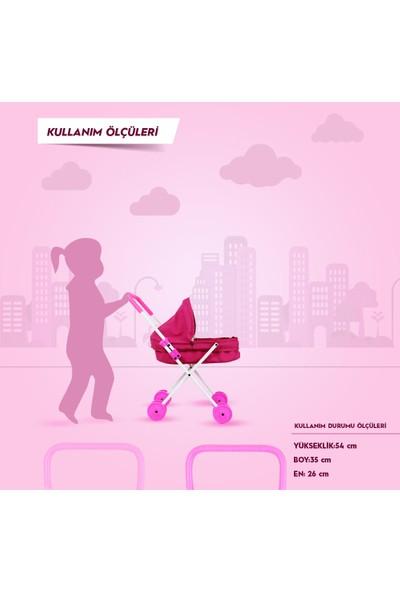 Rival Prenses Katlanabilir Metal Oyuncak Bebek Arabası