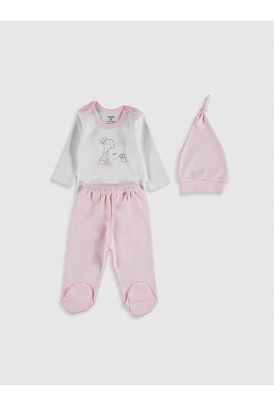 Monello Welcome Home Baby Kutulu 3'lü Kız Bebek Hastane Çıkışı Seti