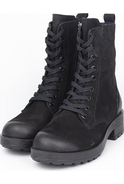 Marine Shoes Kadın Siyah Nubuk Bot