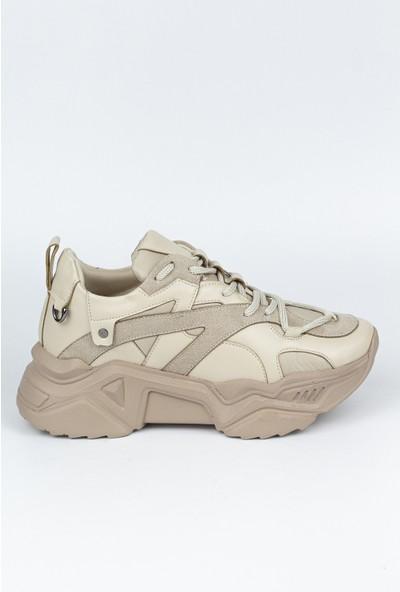 Marine Shoes Kadın Bej Spor Ayakkabı