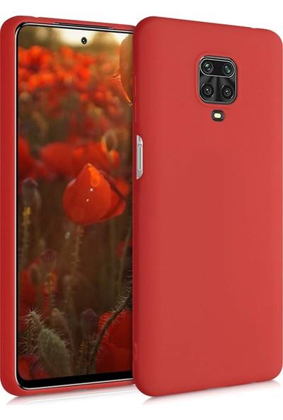 Elsera Xiaomi Redmi Note 9S/Note 9 Pro Kılıf İçi Kadife Lansman Kapak Kırmızı