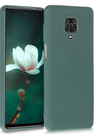 Elsera Xiaomi Redmi Note 9S/Note 9 Pro Kılıf İçi Kadife Lansman Kapak Yeşil