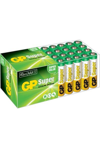 Gp Süper Alkalin Kalem ve AA İnce Pil 40'lı + AAA Boy 40'lı