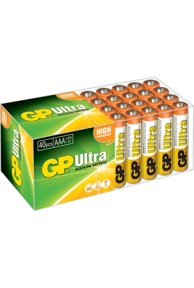 Gp Ultra Alkalin Kalem ve AA İnce Pil 40'lı + AAA Boy 40'lı